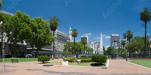In de dag Buenos Aires Plaza de Mayo, Centro de Buenos Aires, Argentina