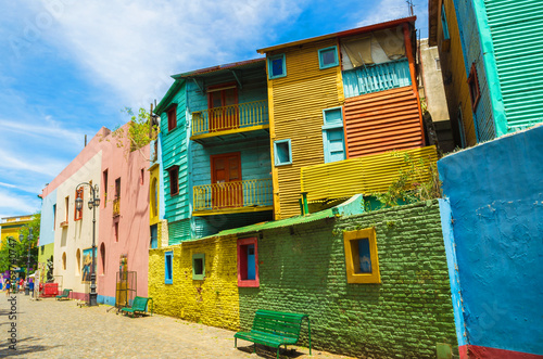 Valokuva  Colorido do Caminito, tradicional rua de la boca, bairro da cidade de Buenos Air