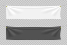 Black And White Textile Banner...