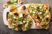 Flatbread Pizza With Figs, Che...