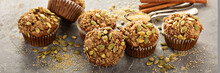 Healthy Pumpkin Muffins With S...