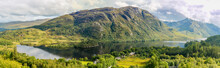 View Of Glenfinnan In Highland...