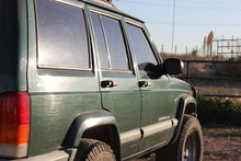Old Green Jeep Cherokee