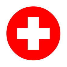 Medical White Cross Symbol In ...