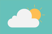 Cloud And Sun Weather Icon Pastel Tone