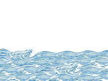 波 和柄イラスト
