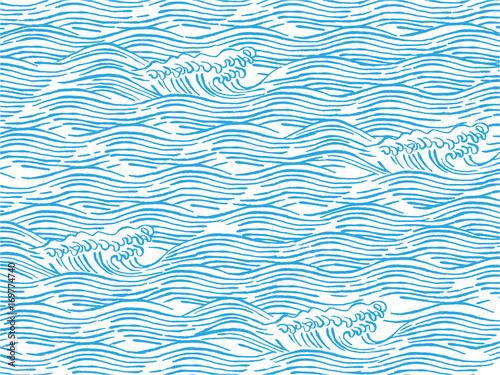 波 和柄イラスト Adobe Stock でこのストックベクターを購入して類似