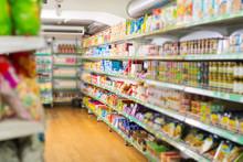 Food Market With Organic Produ...