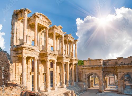Poster Ruine Celsus Library in Ephesus, Turkey