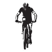 Cycling. Mountain Biker Isolat...