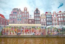 Flower Market In Amsterdam (Bloemenmarkt), Wide Angle