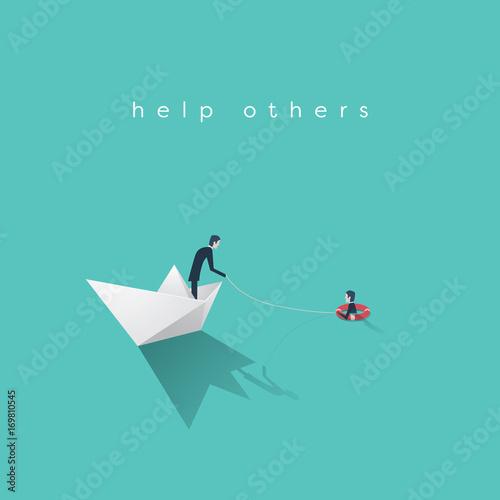 Fotografía  Business help vector concept