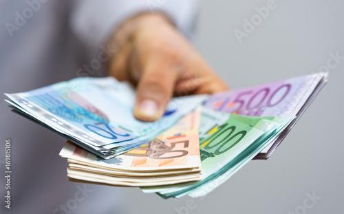 Fotografía  moeny euro