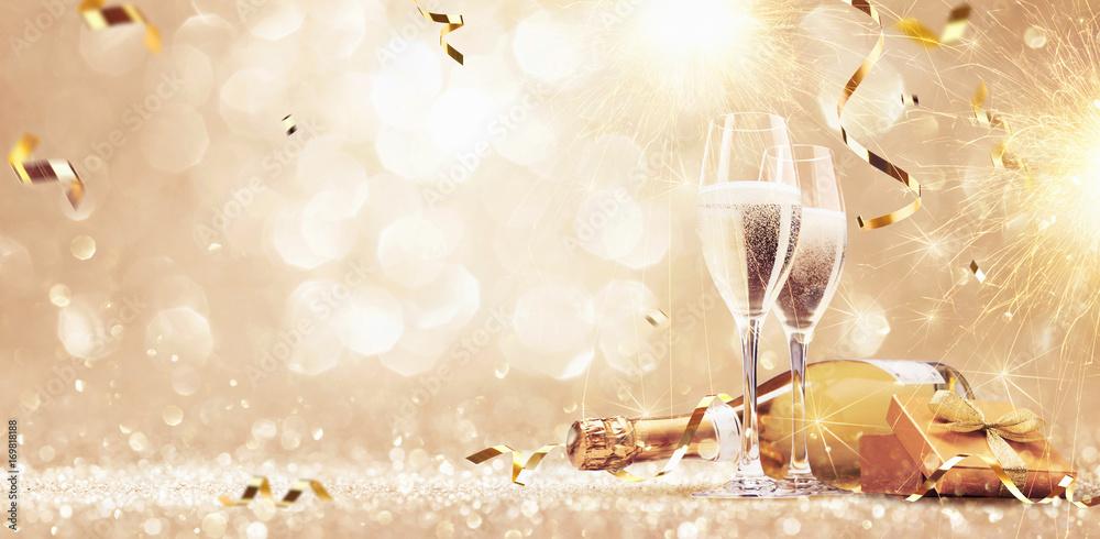 Fototapeta New years eve celebration background