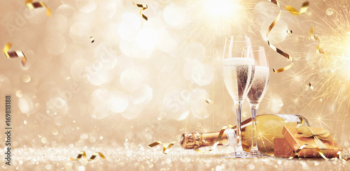 New years eve celebration background