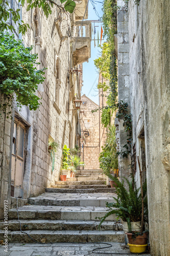 Street in old town of Croatia