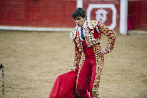Photo Stands Bullfighting Bullfighter in a bullring.