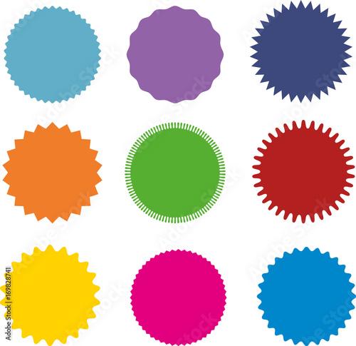 set of vector starburst sunburst badges nine different color a rh stock adobe com vector starburst illustrator vector starburst illustrator