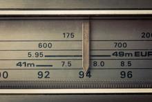 Vintage Radio Tuning Dial, Str...
