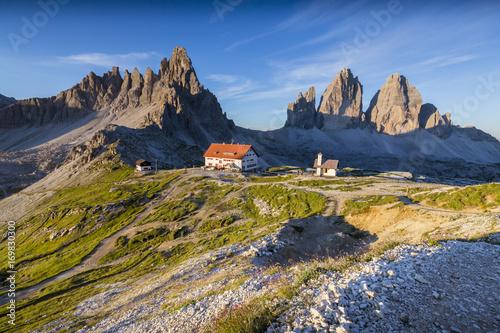 Tre Cime di Lavaredo (Drei Zinnen) in summer - Dolomite (Dolomites ...