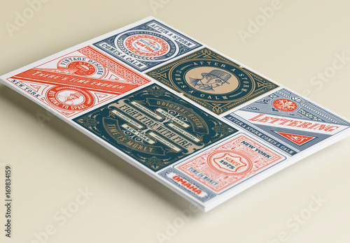 6 vintage label layouts buy this stock template and explore similar