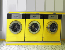 Automatic Launderette With Washers To Washing