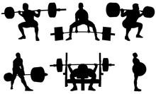 Set Powerlifting Athletes Powe...