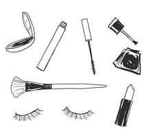 Assorted Cosmetics Make Up Acc...