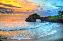 Tanah Lot Temple On Sea In Bal...