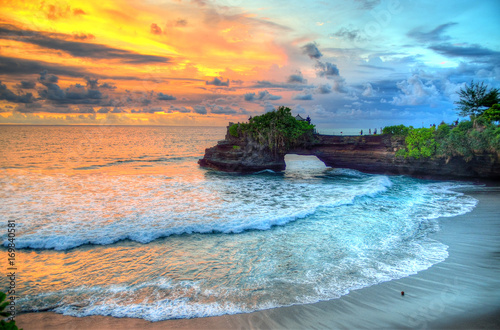 Tuinposter Bali Tanah Lot Temple on Sea in Bali Island Indonesia..