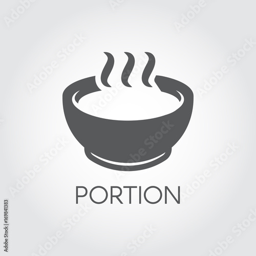 Photo  Plate with portion of hot food