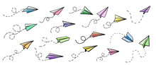 Vector Paper Airplane. Travel,...