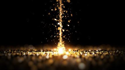 Stream glitter gold black b...
