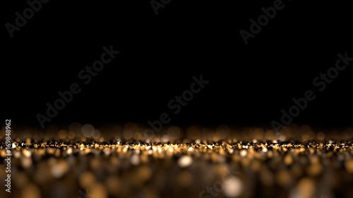 Fototapeta Glitter black isolated background. 3d illustration, 3d rendering. obraz