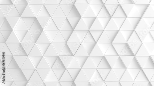 Obraz na plátně White background with triangles. 3d image, 3d rendering.