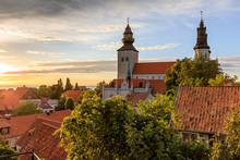 Summer Sunset Over Visby Old T...