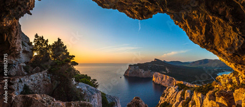 Spoed Foto op Canvas Kust Landscape of the gulf of capo caccia