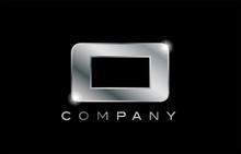 O Silver Metal Letter Company Design Logo