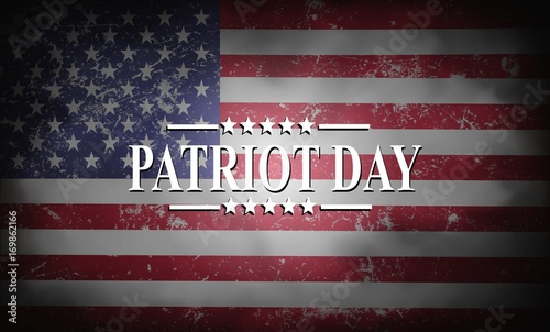 Cuadros en Lienzo Patriot Day of USA background on american flag