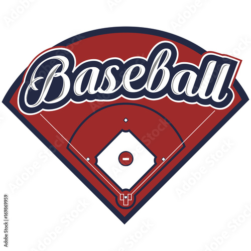 Photo  Isolated baseball emblem