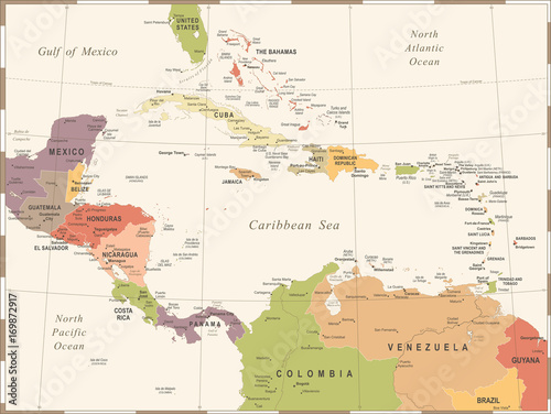 ameryka-srodkowa-mapa