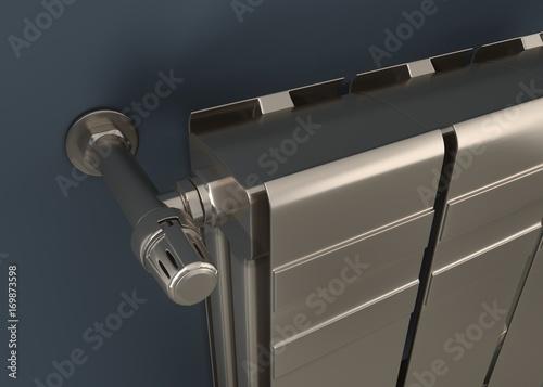 Photo  heating radiator