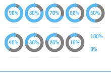 Indicatori Di Percentuale Azzurro