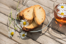 Herbal Tea With Daisies And Ru...