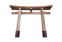 Unpainted Wooden Torii Gate