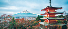 Mount Fuji, Chureito Pagoda In...