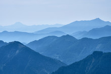 Mountain Tops Covered In Morni...