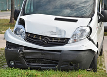 Van After Traffic Accident