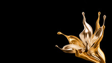 Splash Gold Black Background. ...