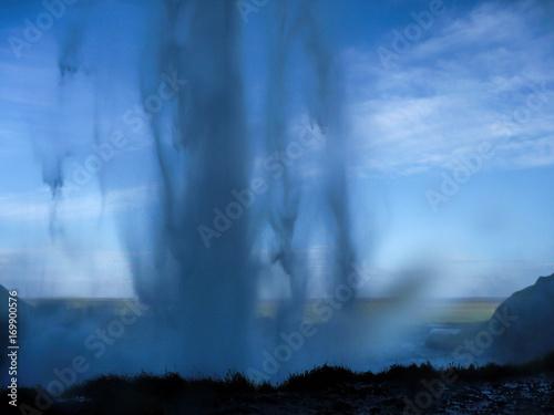 Printed kitchen splashbacks Purple Seljalandsfoss falls